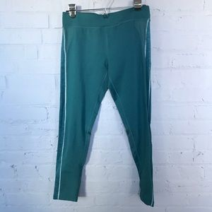 Fun teal running tights from Title Nine.